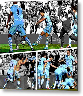 Sergio Aguero Goal Vs Qpr Metal Print