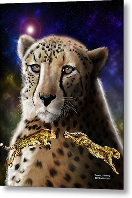 First In The Big Cat Series - Cheetah Metal Print