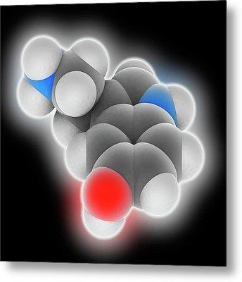 Serotonin Molecule Metal Print by Laguna Design