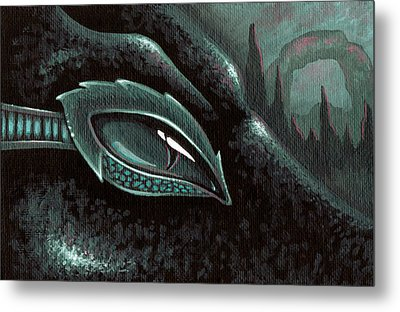 Serpent Of The Coral Gardens Metal Print by Elaina  Wagner