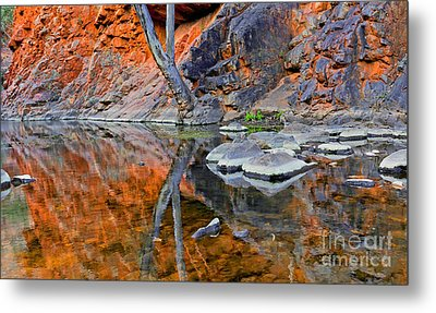 Serpentine Gorge Central Australia Metal Print