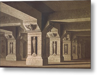Set Design For Act II Scene Xx Of The Magic Flute By Wolfgang Amadeus Mozart 1756-91  Metal Print by Karl Friedrich Schinkel