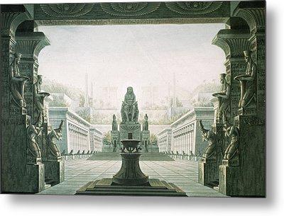 Set Design For Last Scene Of The Magic Flute By Wolfgang Amadeus Mozart 1756-91  Metal Print by Karl Friedrich Schinkel