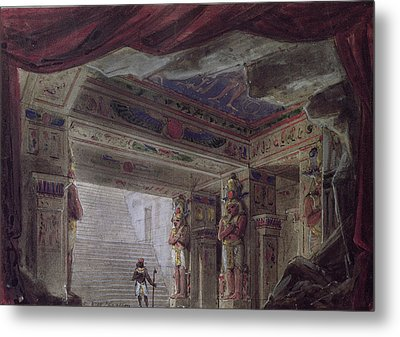 Set Design For The Magic Flute By Wolfgang Amadeus Mozart  Metal Print