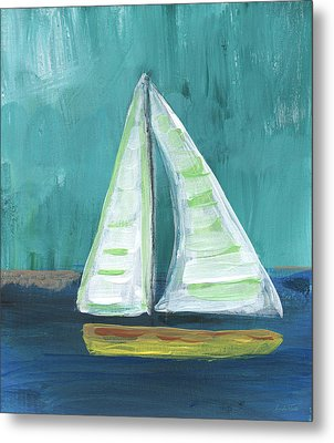 Set Free- Sailboat Painting Metal Print by Linda Woods
