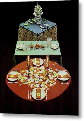 Set Tables Metal Print by Fotiades