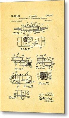 Seth Lover Gibson Humbucker Pickup 2 Patent Art 1959 Metal Print by Ian Monk