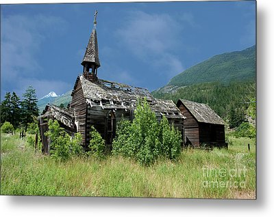Metal Print featuring the photograph Seton Portage Church by Rod Wiens