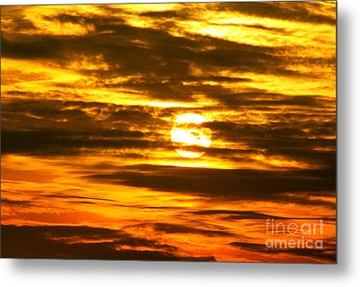Setting Metal Print by Jay Nodianos