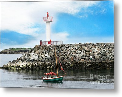 Setting Out Howth Ireland Metal Print by Jo Collins