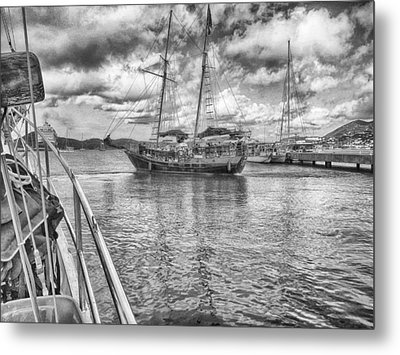 Metal Print featuring the photograph Setting Sail by Howard Salmon