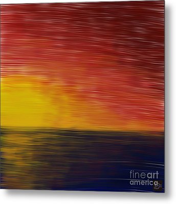 Metal Print featuring the digital art Setting Sun by Andy Heavens