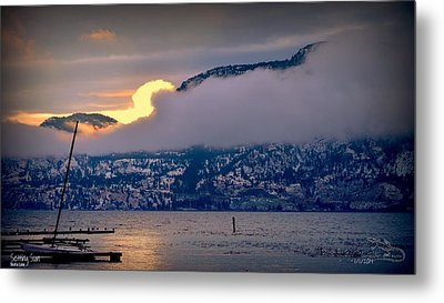 Metal Print featuring the photograph Setting Sun by Guy Hoffman
