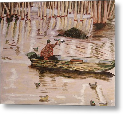 Setting Up In A Tupelo Swamp Metal Print by Kevin Callahan