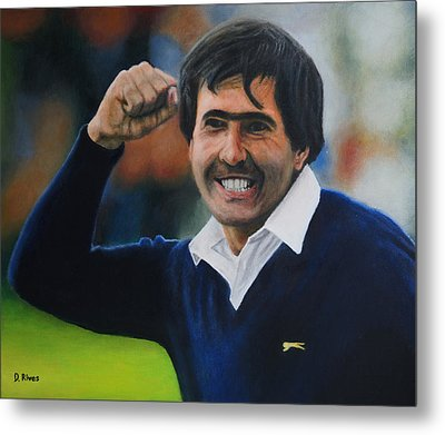 Seve Ballesteros Oil On Canvas Metal Print