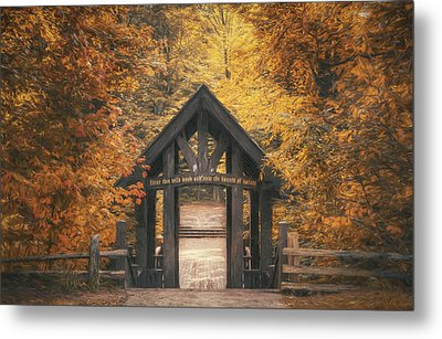 Seven Bridges Trail Head Metal Print