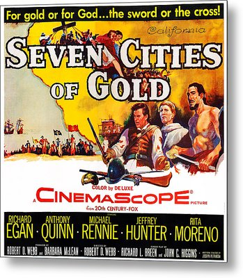Seven Cities Of Gold, Us Poster, Center Metal Print