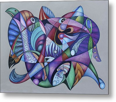 Seven Creatures For Seven Seas Metal Print by Lonnie C Tapia
