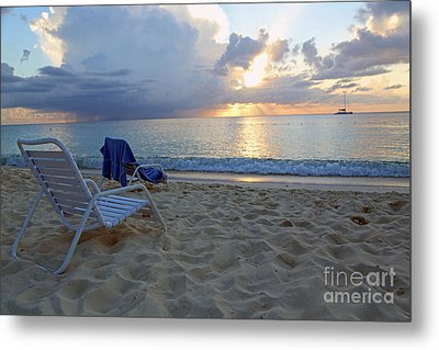 Sunset On Seven Mile Beach Metal Print
