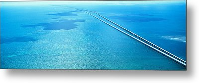 Seven Miles Bridge Florida Keys Fl Usa Metal Print by Panoramic Images