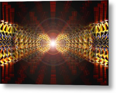 Metal Print featuring the drawing Seven Sacred Steps Of Light by Derek Gedney