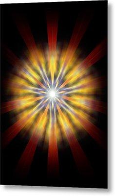 Metal Print featuring the drawing Seven Sistars Of Light by Derek Gedney