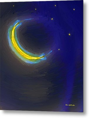 Seven Stars And The Moon Metal Print