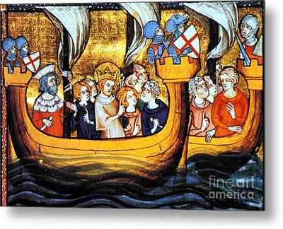 Seventh Crusade 13th Century Metal Print by Photo Researchers