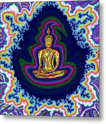 Seventh Heaven Buddha Metal Print by Robert SORENSEN