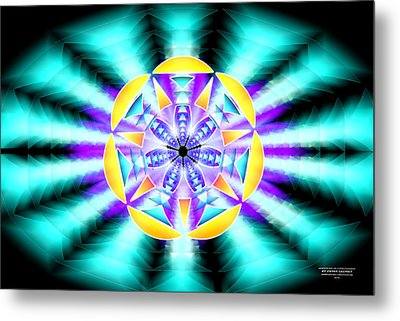 Metal Print featuring the drawing Seventh Ray Of Consciousness by Derek Gedney