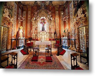 Seville Cathedral Interior In Spain Metal Print by Artur Bogacki