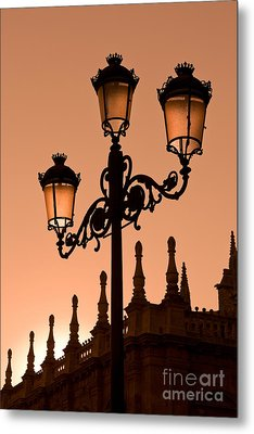 Seville Lantern Metal Print by Rod McLean