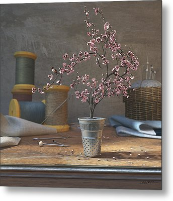 Sew Tiny Metal Print by Cynthia Decker