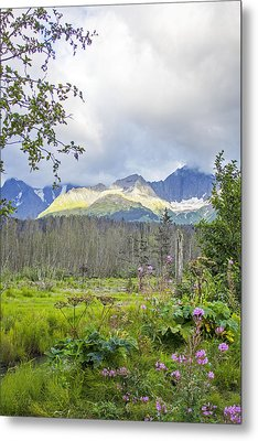Seward Alpenglow Metal Print by Saya Studios