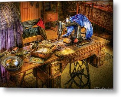 Sewing Machine  - Sewing Machine Iv Metal Print by Mike Savad