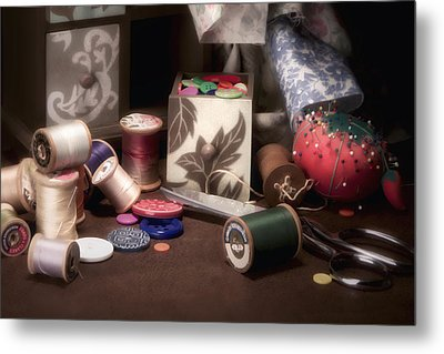 Sewing Notions II Metal Print by Tom Mc Nemar