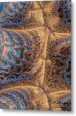 Sewn  Metal Print by Heidi Smith