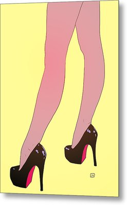 Sexy Legs Metal Print by Giuseppe Cristiano