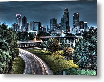 Sexy Skyline Of Charlotte  Metal Print