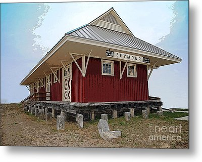 Seymour Indiana Train Station Metal Print by Jost Houk
