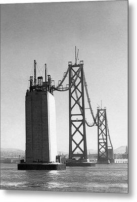 Sf Bay Bridge Construction Metal Print