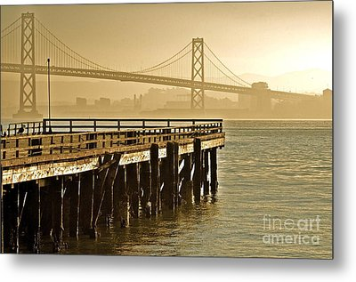 Sf Bay Bridge From Treasure Island Metal Print