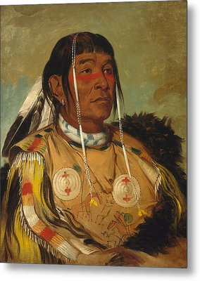 Sha-co-pay. The Six. Chief Of The Plains Ojibwa Metal Print