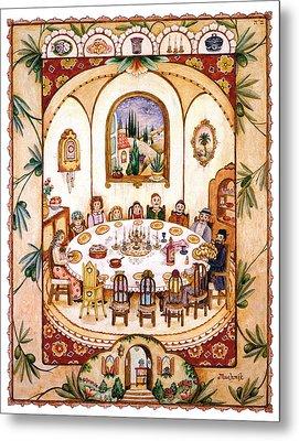 Shabbat Table Metal Print