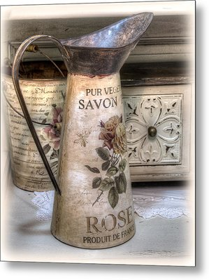 Shabby Chic Vase Metal Print