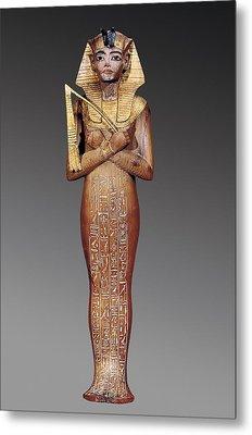 Shabti Figure Of The King. 1370 -1352 Metal Print