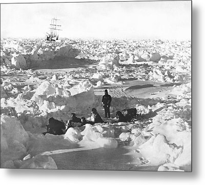 Shackleton's Antarctic Venture Metal Print by Underwood Archives