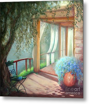 Shade Of The Olive Tree Metal Print
