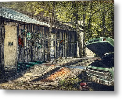 Shade Tree Mechanic Metal Print