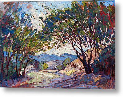 Shaded Path Metal Print by Erin Hanson